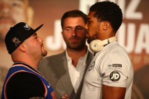 Andy Ruiz and Anthony Joshua face to face in their final press conference