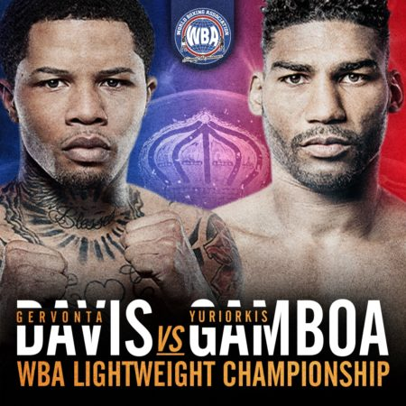 Gervonta Davis and Gamboa will fight for the vacant WBA 135lb Title