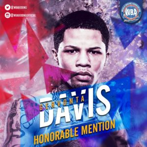 Gervonta Davis– WBA Honorable Mention December 2019