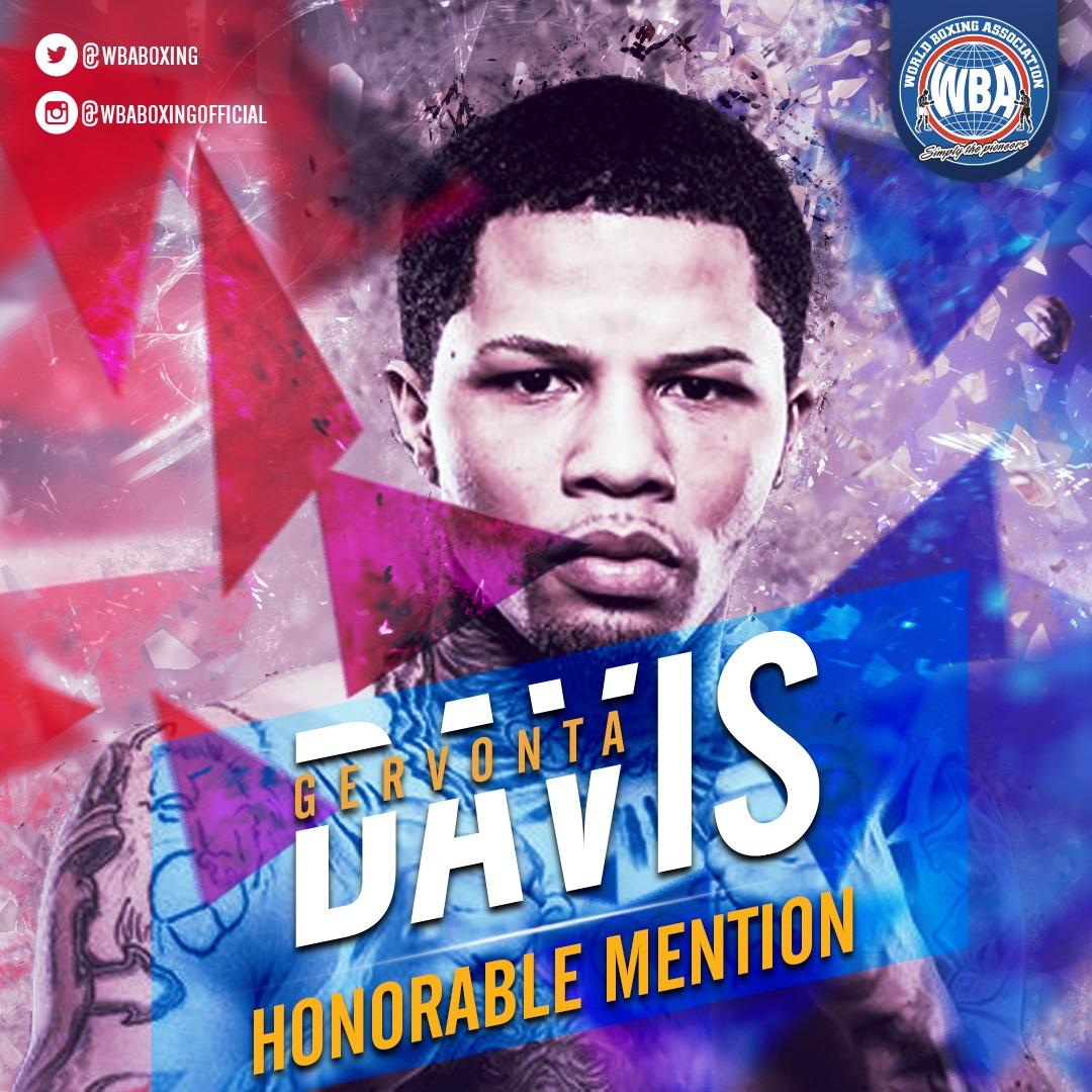 Gervonta Davis– WBA Honorable Mention December 2019