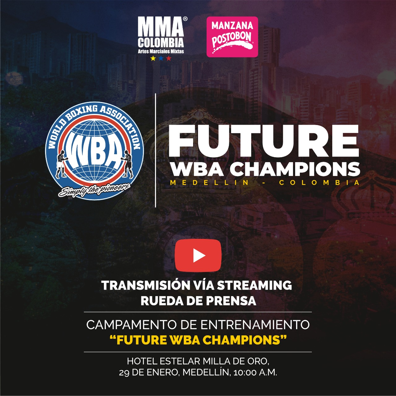 """Future WBA Champions"" Camp Press Conference in Medellin will be live streamed"
