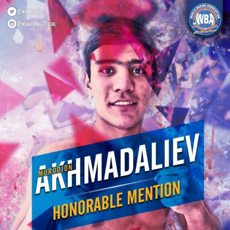 Murodjon Akhmadaliev– WBA Honorable Mention January 2020