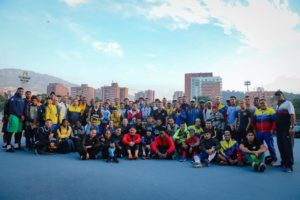 """Mendoza accompanied the delegations of the """"Future WBA Champions"""" Camp in their training sessions"""