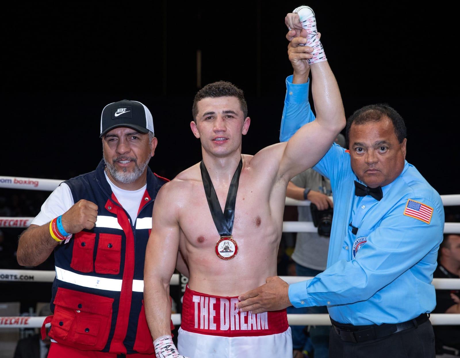 Madrimov Stops Navarro in WBA eliminator bout