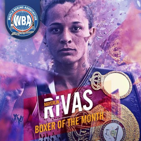 Mayerlin Rivas was the female boxer of February