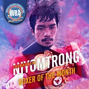 Thammanoon Niyomtrong– Boxer of the month March 2020