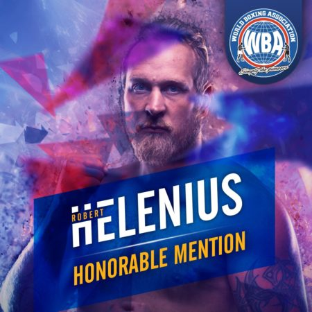 Robert Helenius– WBA Honorable Mention March 2020