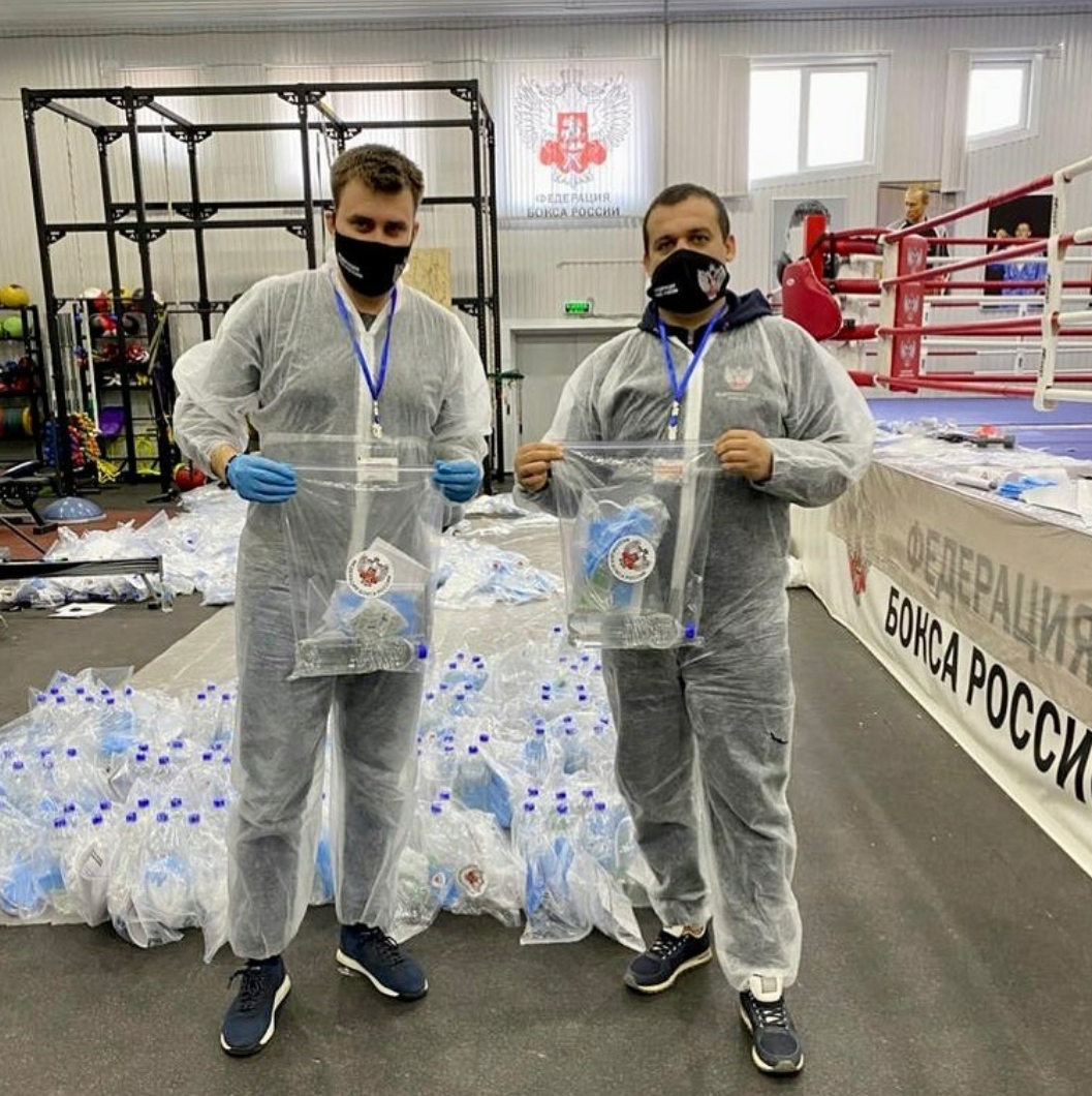 The Russian Boxing Federation contributes in the fight against Covid-19