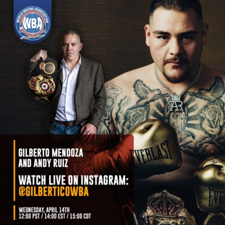 Gilberto Mendoza will interview Andy Ruiz on IG Live on Wednesday