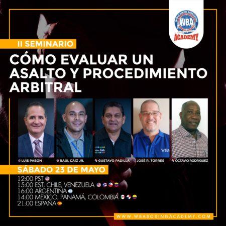 WBA Academy dictará segundo seminario de jueces y árbitros este sábado