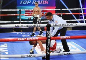 The bell rang in Las Vegas: Stevenson knocked out behind closed doors