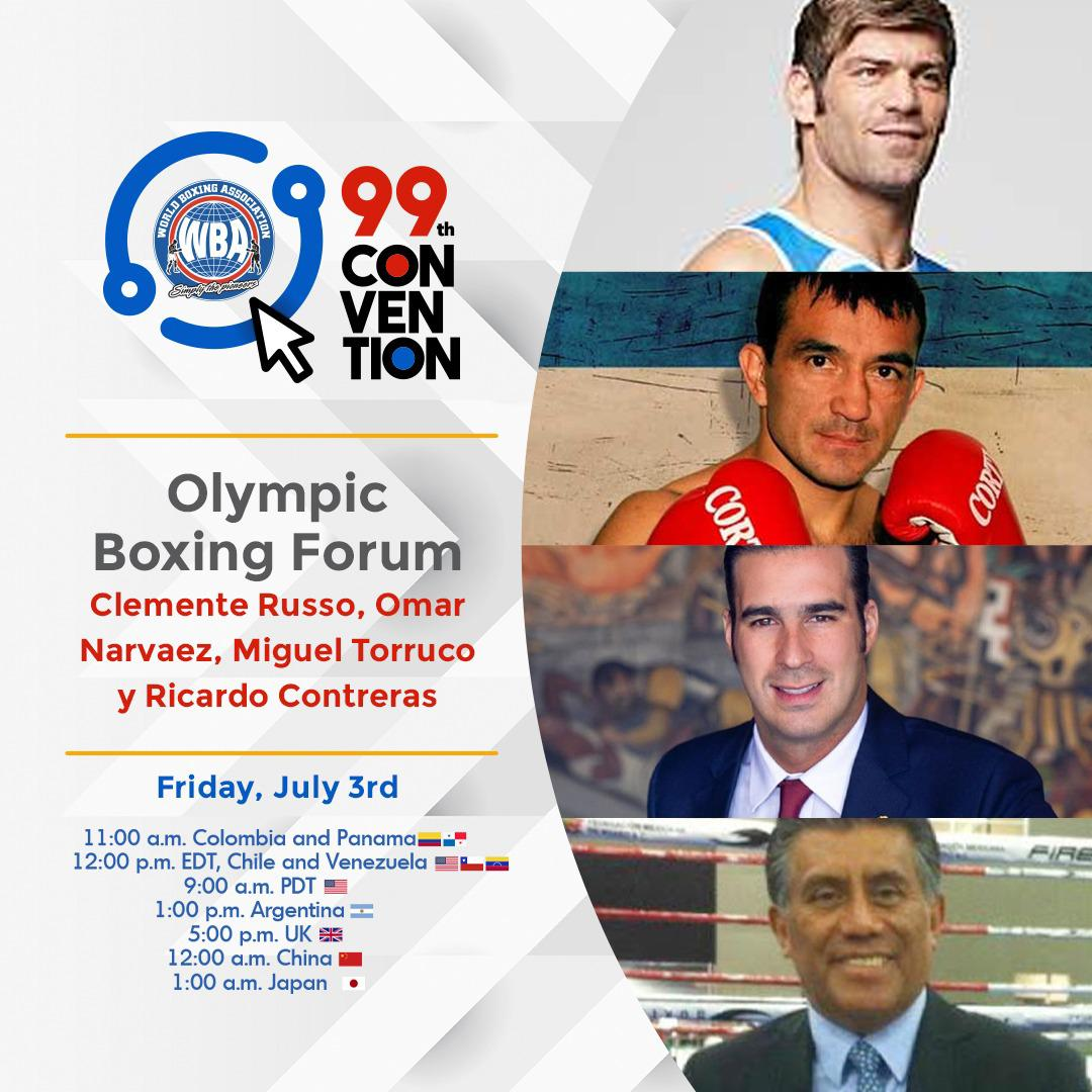 The Olympic Boxing forum will be a priority at the WBA 99th Convention