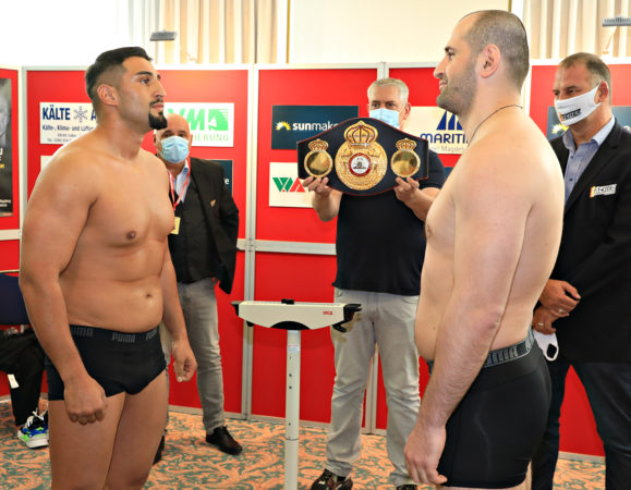 Kabayel and Lazaridis made weight in Magdeburg