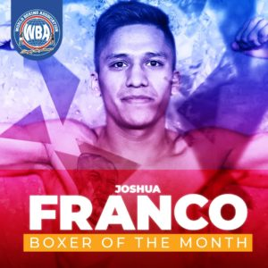 Joshua Franco is the boxer of the month in the WBA