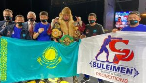 Yerbossynuly retained his WBA-International belt in Minsk
