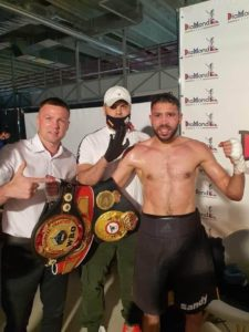Messaoud surprised Zhangabayev for the WBA Intercontinental belt