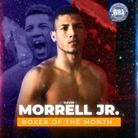 Osvary David Morrell is the WBA Fighter of the Month