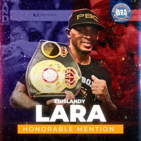 Erislandy Lara– WBA Honorable Mention August 2020