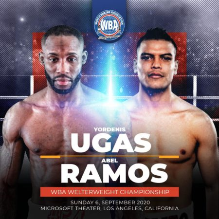 Ugás and Ramos held their press conference before their fight on Sunday