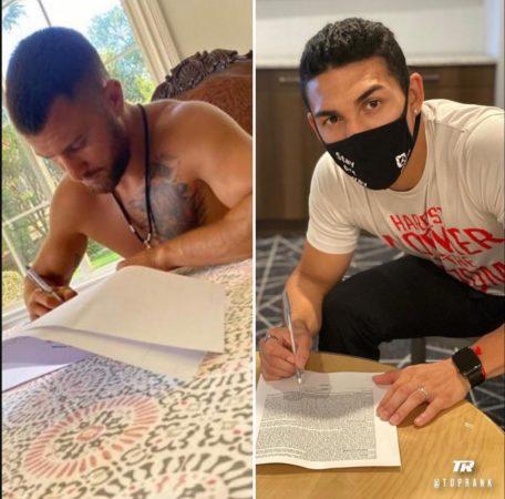 Loma y Teófimo firmaron contrato para su pelea del 17 de octubre
