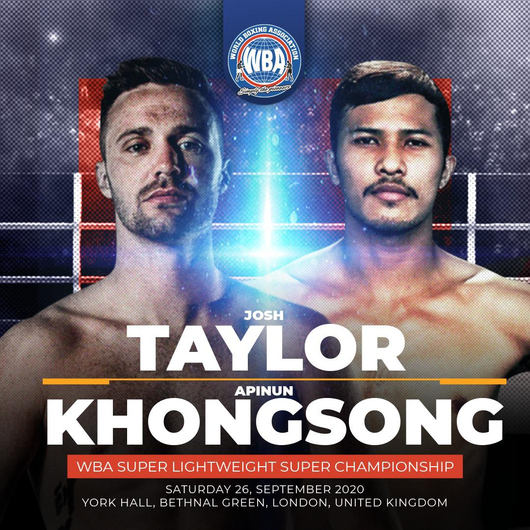 Josh Taylor is ready to defend his title against Khongsong in London