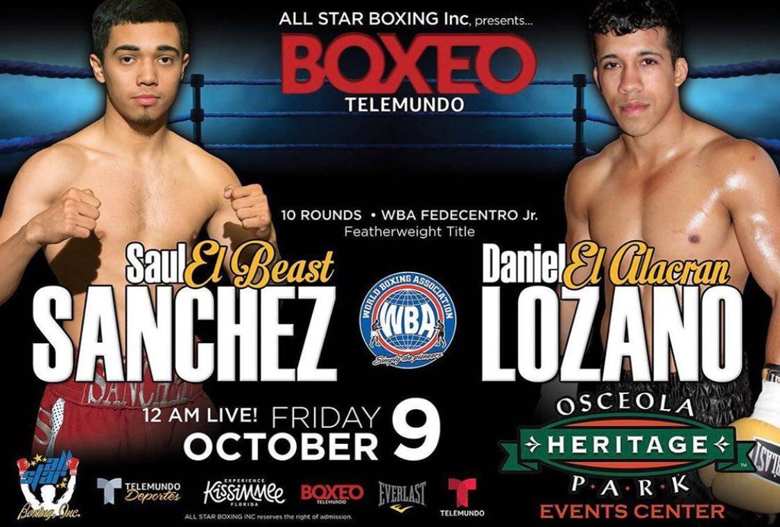 Sanchez and Lozano will fight for WBA-Fedecentro title on Friday