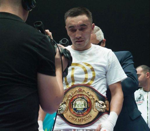 Daukenov won the WBA-East Asia belt in Belarus