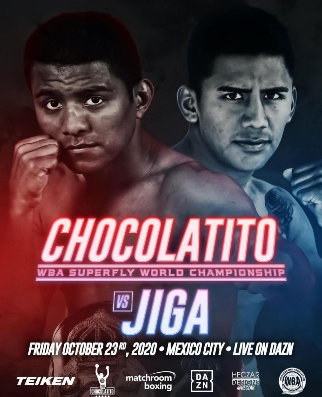 """""""Chocolatito"""" and """"Jiga"""" will fight for the WBA belt this Friday in Mexico City"""