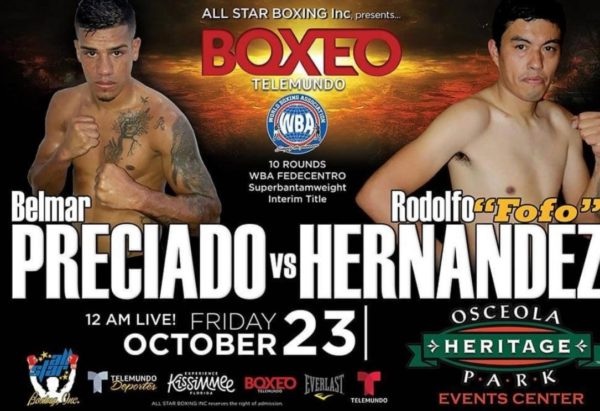 Preciado-Hernández will fight for the WBA Fedecentro title this Friday