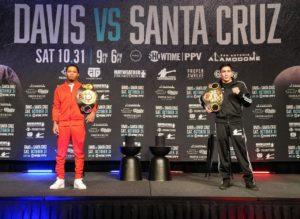 Davis and Santa Cruz met face to face at a press conference