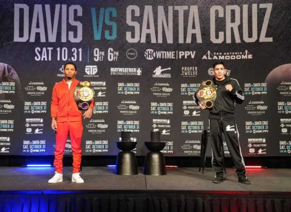 Davis and Santa Cruz met face to face at a press conference