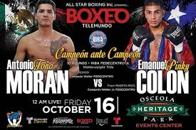 Colón and Morán will fight for the WBA-Fedecentro title this Friday in Kissimmee