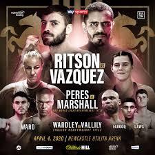 Ritson-Vázquez este sábado por el intercontinental AMB