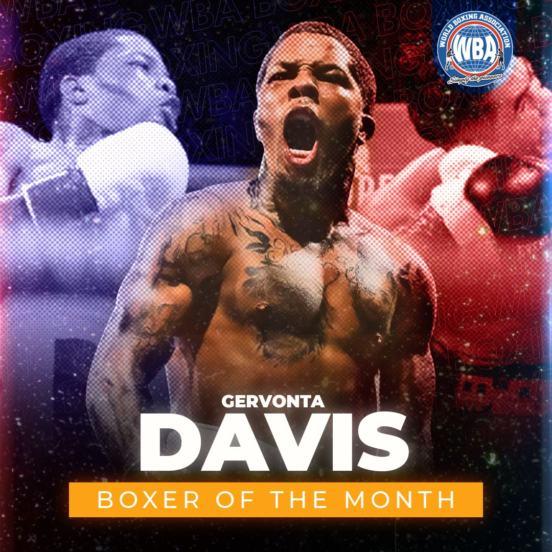Gervonta Davis is the WBA Boxer of the Month
