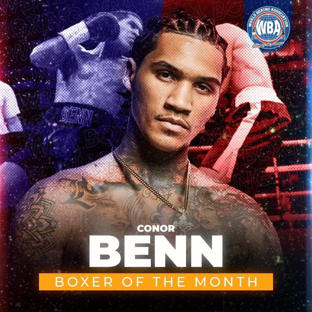Conor Benn wins the WBA Boxer of the Month award
