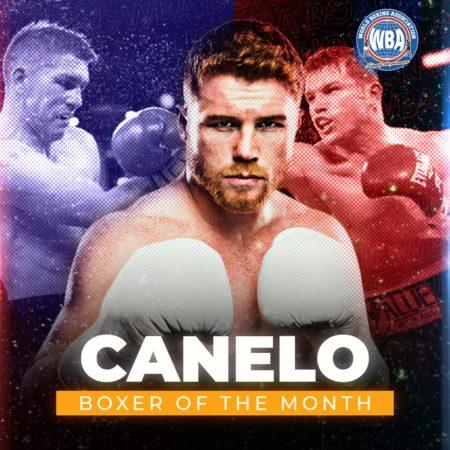 Canelo Álvarez is the WBA Boxer of the Month