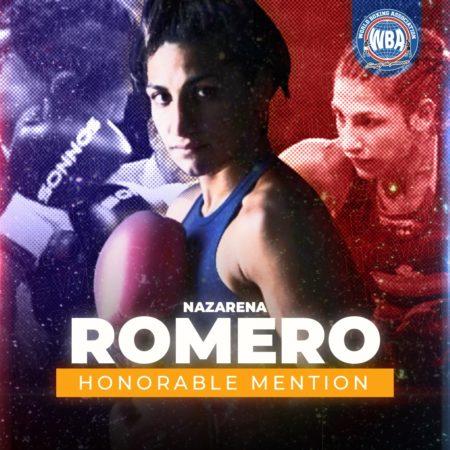 Nazarena Romero -WBA Honorable Mention December 2020