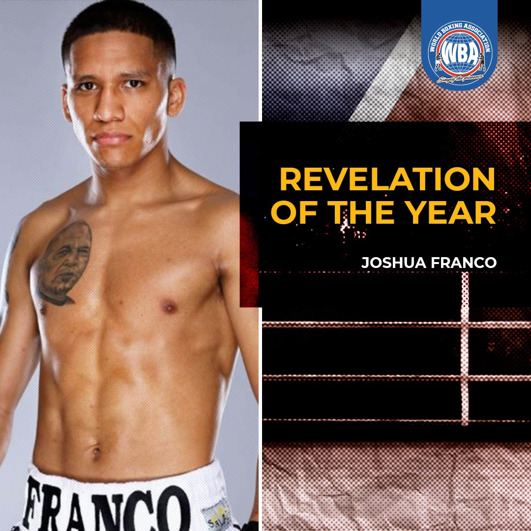The WBA Revelation of the Year Award goes to Joshua Franco