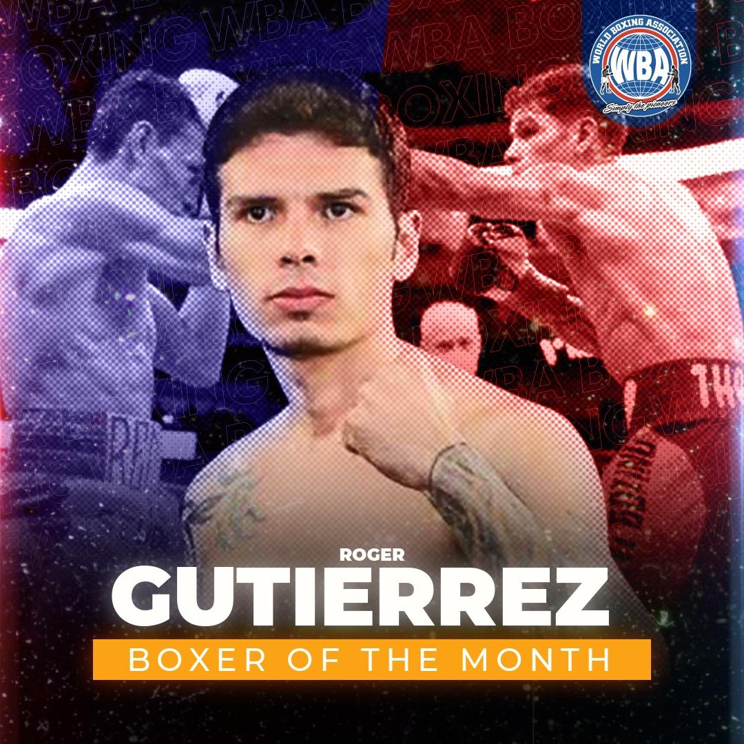 Roger Gutiérrez is WBA Boxer of the Month