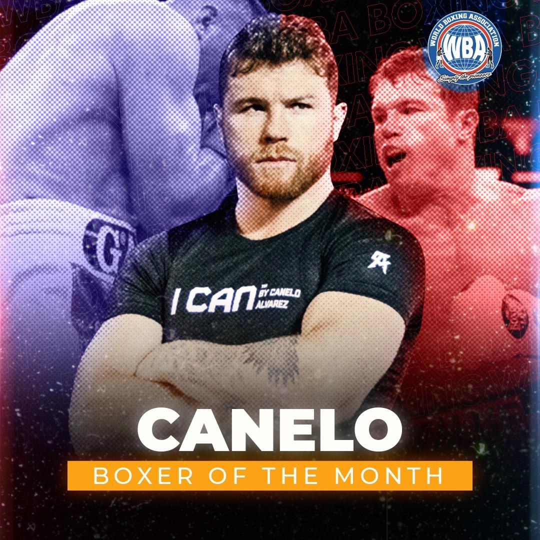"""Canelo"" Alvarez is the WBA Boxer of the Month"
