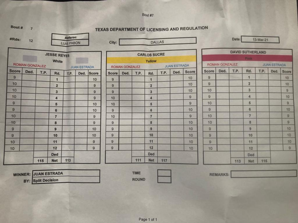 WBA temporarily suspends Carlos Sucre while evaluating his performance in the Estrada-Gonzalez fight