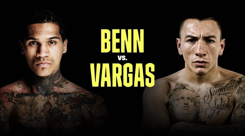 Benn will defend his WBA-Continental belt against Vargas this Saturday