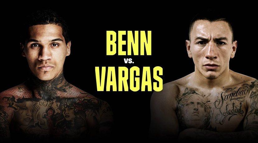 Benn defiende su faja AMB-Continental ante Vargas este sábado