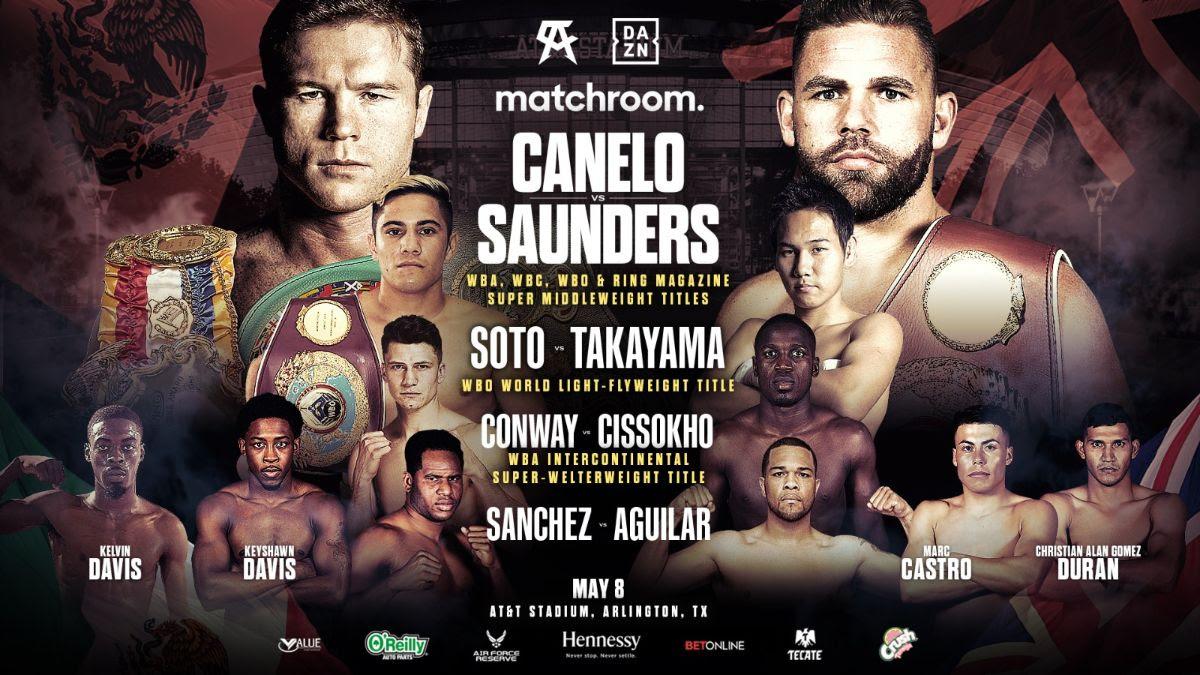Soto, Sánchez y Conway lideran respaldo de Canelo-Saunders