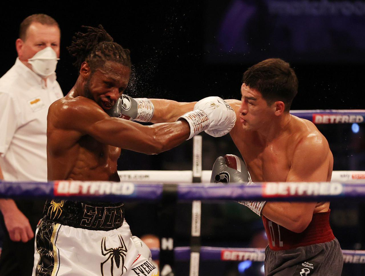 Dmitry Bivol retained his WBA belt against Richards in Manchester
