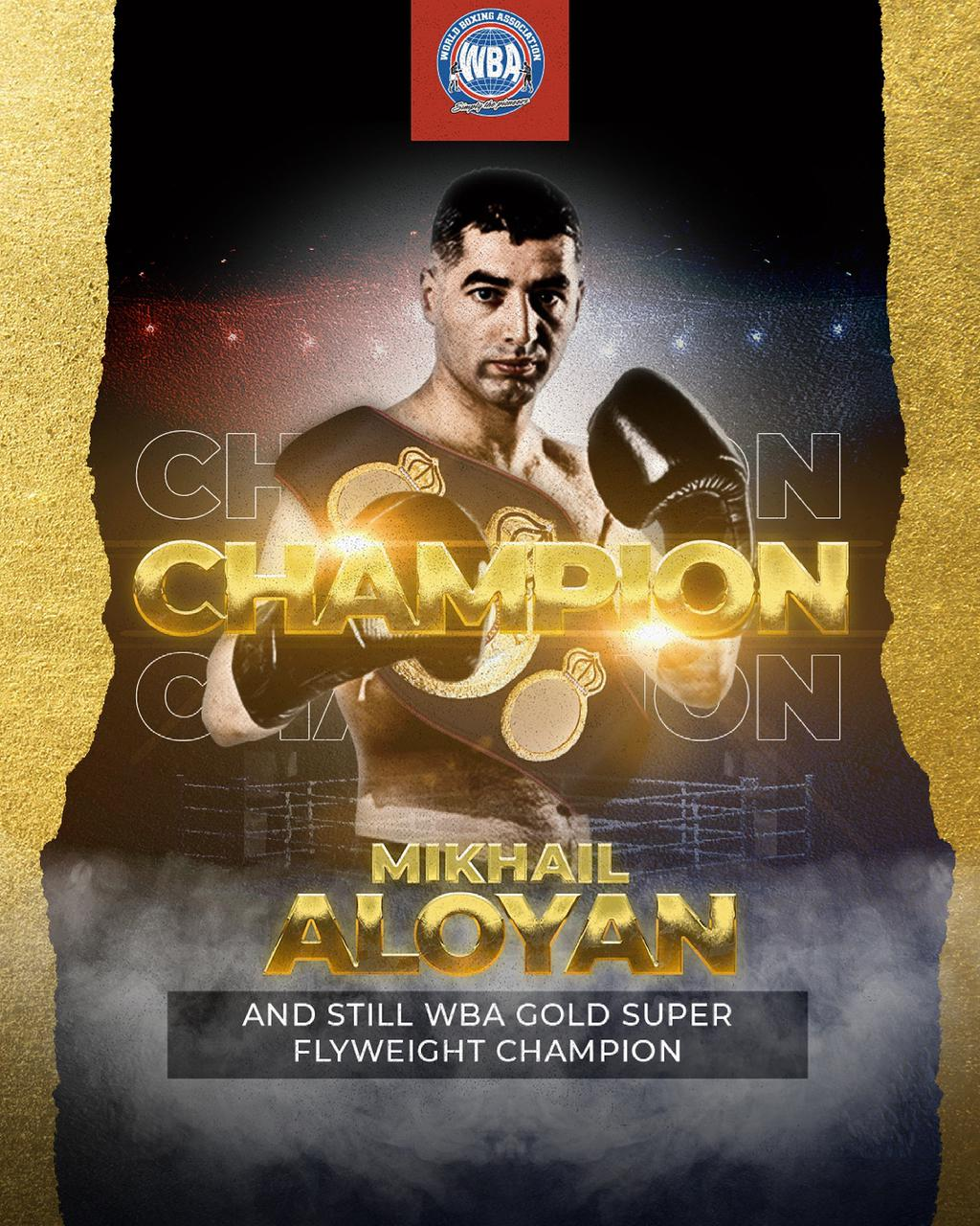 Aloyan demolished Hryshchuk and retained his WBA Gold belt