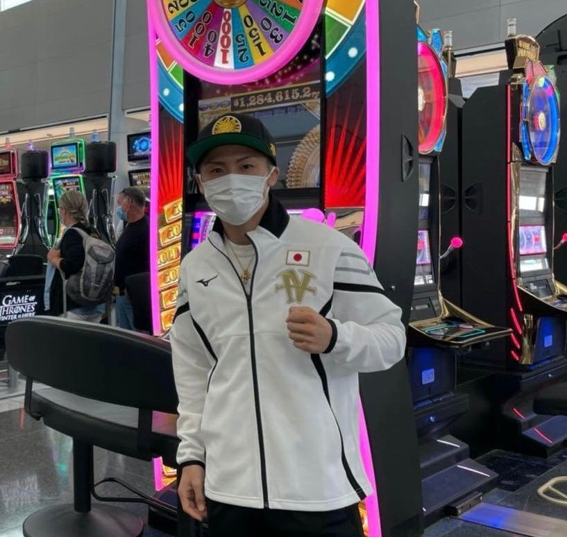 Inoue llegó a Las Vegas para su combate ante Dasmarinas