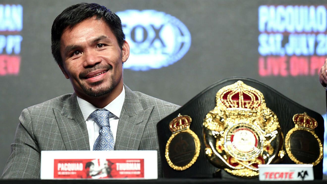 Pacquiao announced his candidacy for Philippine presidency