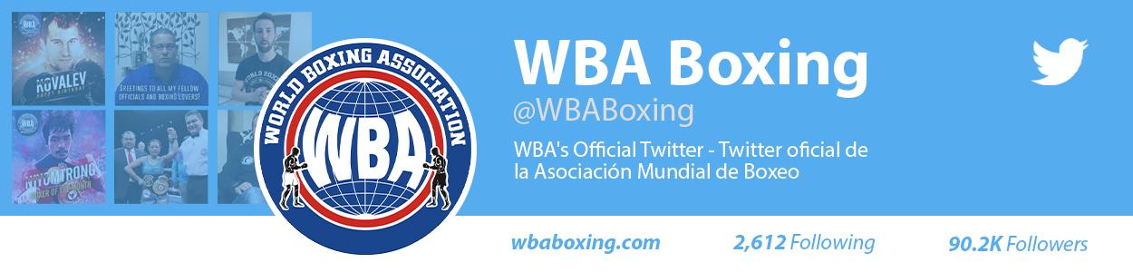 WBA's Official Twitter - Twitter oficial de la Asociación Mundial de Boxeo