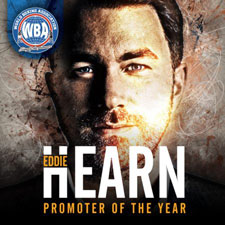 Eddie Hearn WBA 2018 Promoter of the year